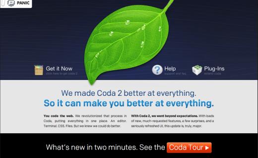 Coda 2 tool example web design tools