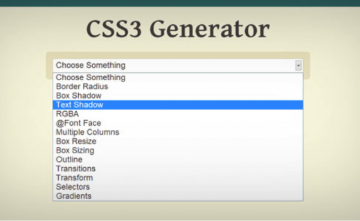 css3 generator example web design tools