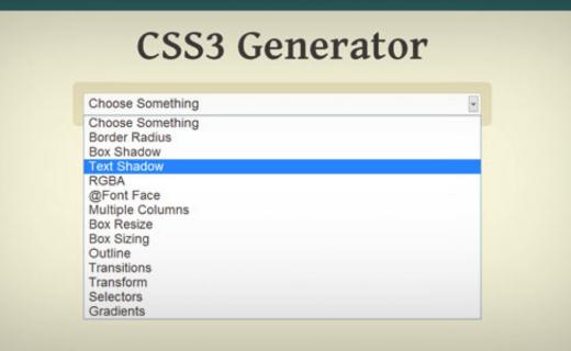 css3 generator example web design tools