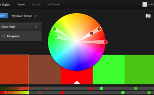 Adobe kuler web design tool example