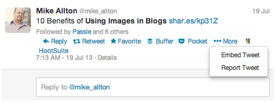 Using images in blogs