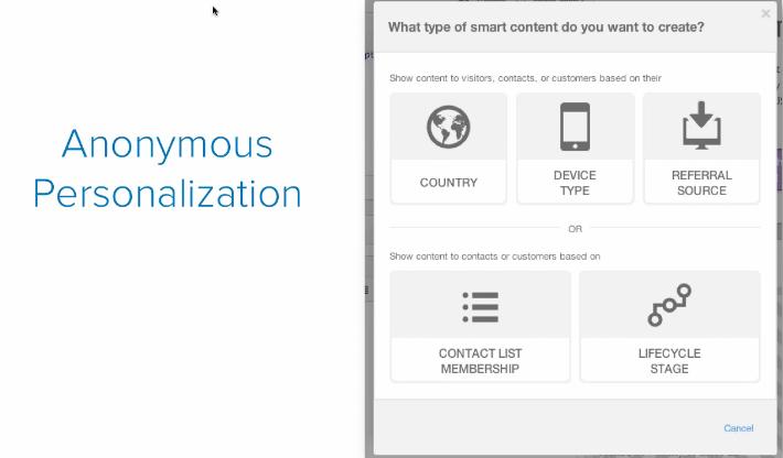 screenshot hubspot crm personalisation review