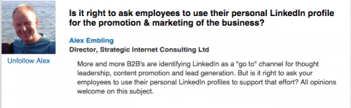 linkedin discussion b2b marketing