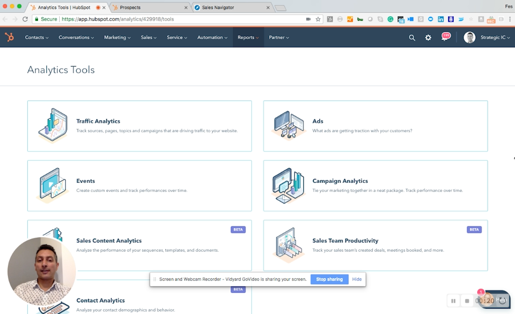 HubSpot Analytics Tool Suite