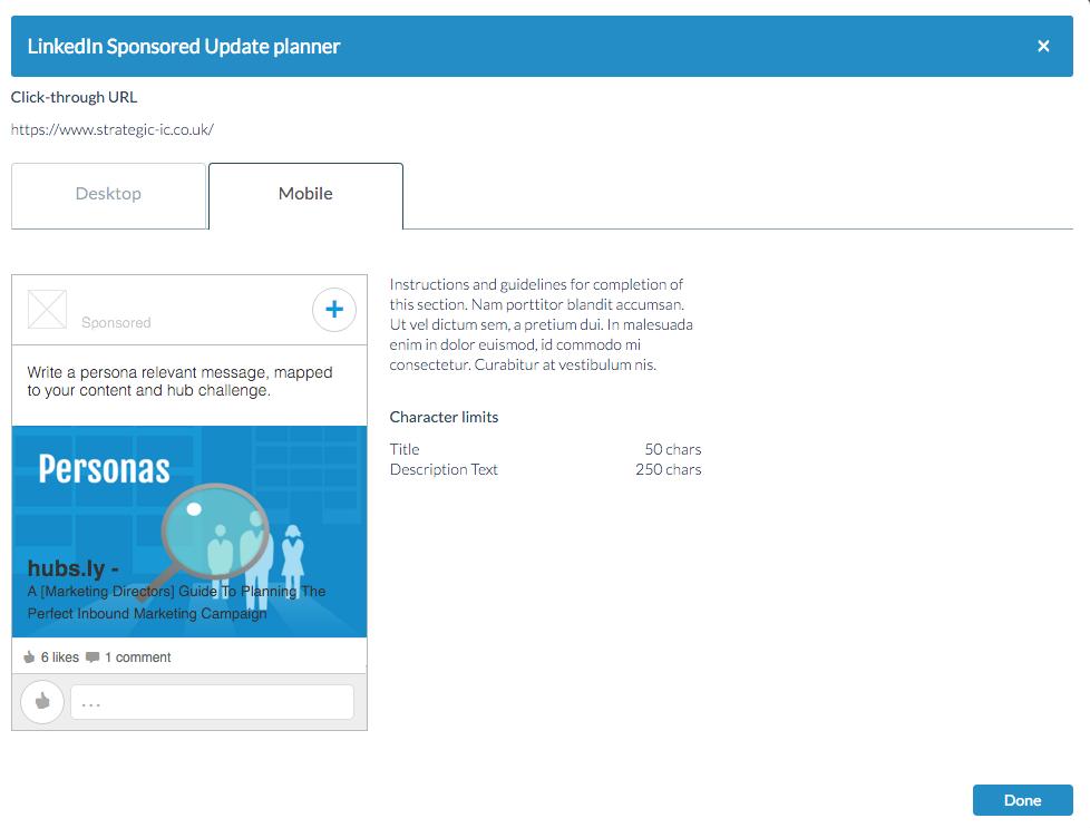 paid ads Linkedin sponsored updates mobile