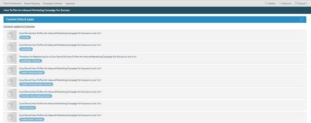 editorial calendar content hub