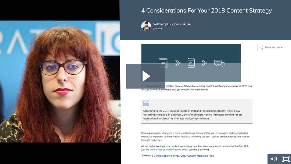 4 Considerations For Your 2018 Content Strategy