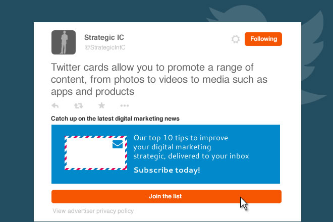 B2B Prospecting - What are Twitter Lead Generation Cards